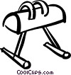 Vector Clipart graphic  of a pommel horse