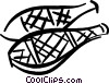 Vector Clip Art graphic  of a snowshoes