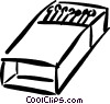 Vector Clip Art graphic  of a matches