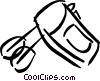 Vector Clip Art graphic  of a mixer
