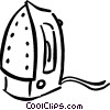 Vector Clipart image  of a iron