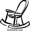 rocking chair Vector Clip Art graphic