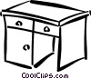desk Vector Clip Art graphic
