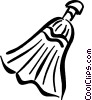 Vector Clipart image  of a broom