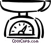 kitchen scale Vector Clipart illustration