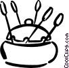 Vector Clip Art graphic  of a fondue