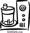 food processor Vector Clipart picture