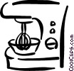 Vector Clipart illustration  of a food processor