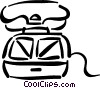 Vector Clip Art graphic  of a Waffle Irons
