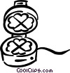 waffle iron Vector Clipart image