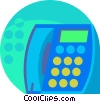 Vector Clip Art picture  of a Public Pay Phones