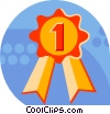 Vector Clipart picture  of a prize ribbon