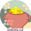 pot of gold coins Vector Clipart illustration