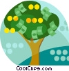 money tree Vector Clipart picture