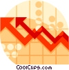 Vector Clip Art graphic  of a sales growth chart
