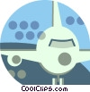 Vector Clipart picture  of a Passenger plane