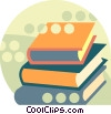 Vector Clipart graphic  of a Stack of books