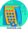Public Pay Phones Vector Clipart illustration