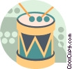 Vector Clipart graphic  of a Drums