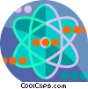 Vector Clipart graphic  of an Atoms