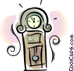 Grandfather clock Vector Clipart graphic