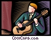 Vector Clipart picture  of an Accoustic