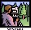 Vector Clipart graphic  of a surveyor