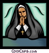 Nun Vector Clip Art picture