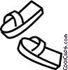Vector Clip Art graphic  of a sandals