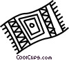 Vector Clipart image  of a towel