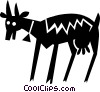 Vector Clipart illustration  of a goat