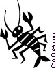 Vector Clipart graphic  of a lobster