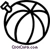 Vector Clip Art image  of a ball