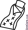 Vector Clip Art image  of a sleeping bag