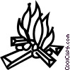 Vector Clipart picture  of a campfire