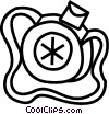 Vector Clip Art graphic  of a canteen
