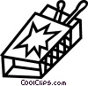 Vector Clip Art picture  of a matches