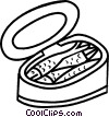Vector Clipart picture  of a canned fish