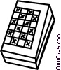 Vector Clip Art graphic  of a Checkers