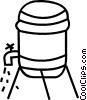 Vector Clipart image  of a water cooler