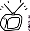 television Vector Clipart graphic