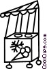 Vector Clip Art image  of a ice cream cart