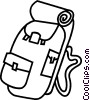 Vector Clipart image  of a back pack