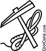 Vector Clip Art graphic  of a mountain climbing pick