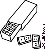 Vector Clip Art picture  of a dominoes