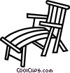 patio chair Vector Clipart illustration