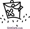 Vector Clipart graphic  of a beach bag