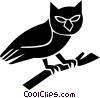 Vector Clipart graphic  of a owl