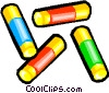 Pastel markers Vector Clipart graphic