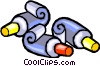 Tubes of paint Vector Clip Art picture